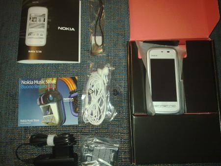 Nokia 5230 - il contenuto della scatola