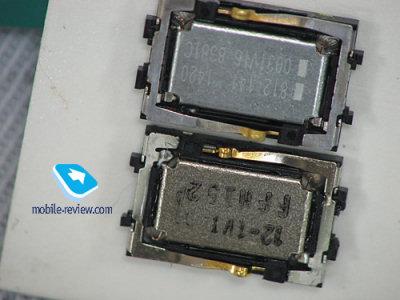 L'altoparlantino difettoso (foto di www.mobile-review.com)