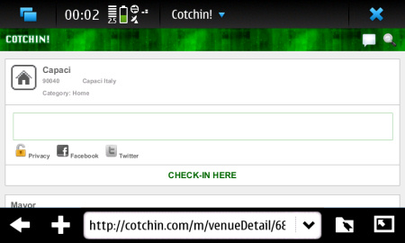 Cotchin! - check-in