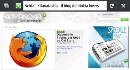 KiAmaNokia su Firefox su Nokia N900