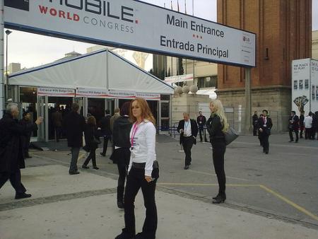 Una foto dal GSMA Mobile World Congress (foto di Juan Pablo Bustos)