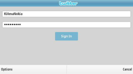 Messaging for Social Networks - twitter login