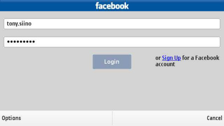 Messaging for Social Networks - facebook login