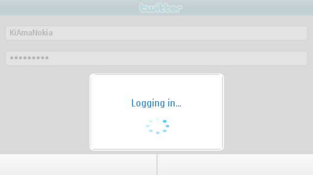 Messaging for Social Networks - twitter login in corso...