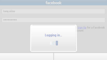 Messaging for Social Networks - facebook login in corso...