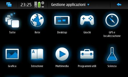 Nokia N900 - Gestione applicazioni