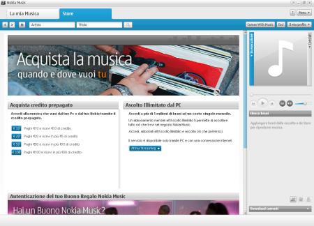 Nokia Music Store - Acquista credito