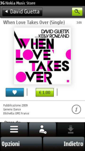 "Nokia Music Store sul Nokia 5800 XpressMusic - David Guetta feat. Kelly Rowland - ""When love takes over"""