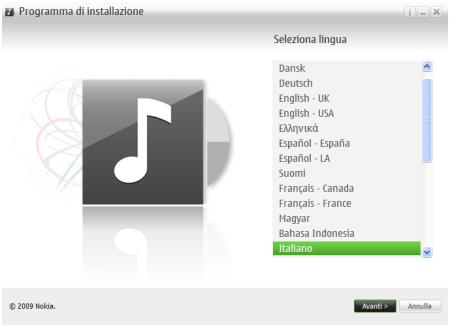 Installazione di Nokia Music