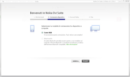 Nokia Ovi Suite 2.0 beta - connessione dispositivo