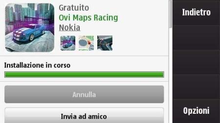 Ovi Maps Racing - installazione in corso