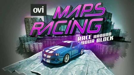 Ovi Maps Racing - schermata iniziale