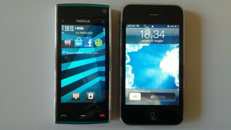 Nokia X6 vs. Apple iPhone 3GS