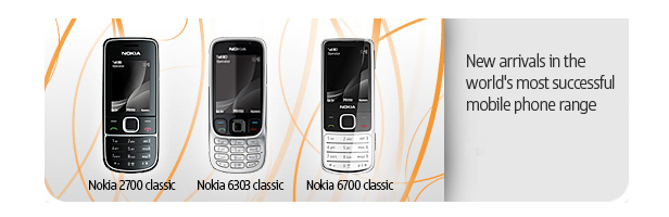 In arrivo Nokia 6700, 6303 e 2700 classic