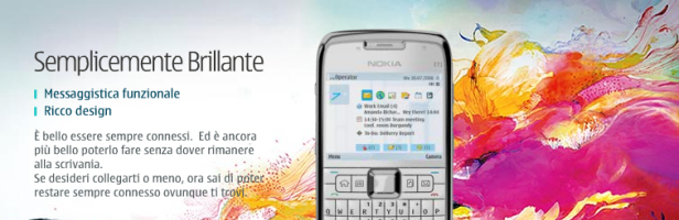 """Beautiful Connections"": arte e advertising per il Nokia E71"